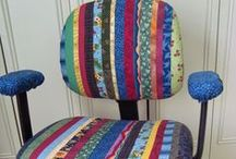 Chairs n Ottomans DIY ReDo ReFurbish / Office chairs, foot stools, made and remade / by ThreeOldKeys Laurie C