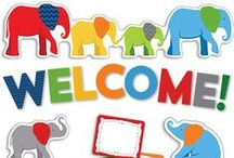 Parade Of Elephants Classroom Decor! / This is a parade you'll never forget! The modern, bold color of our Parade of Elephants decor are perfect for any classroom!  / by Carson-Dellosa Publishing