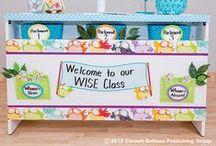 Owl Pals Classroom Decor / Carson-Dellosa cute, fun classroom decor featuring owl pals! / by Carson-Dellosa Publishing