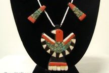 Thunderbird Jewelry Santo Domingo Kewa / Santo Domingo Kewa Thunderbird Tab Jewelry, Depression Necklaces, Native American, Folk Art / by ThreeOldKeys Laurie C