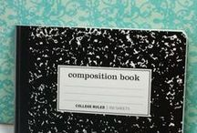 Composition Book Covers, Journal Covers / Sew covers for composition books, notebooks, journals / by ThreeOldKeys Laurie C