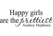 Happy is Pretty. Be Happy. / Nothing in the world prettier than a #Happy #girl. #BeHappy. Love life. www.agutsygirl.com