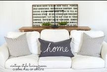 Cottage Style / Lots of white and chippy paint. :)
