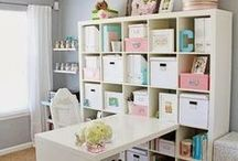 home {craft workspace inspiration} / by One Stylish Party