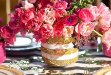 Pink/Green/Black/White Sparkle Summer Wedding