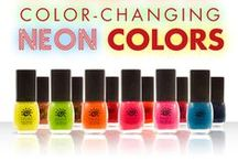 Del Sol Neon Nail Polish Collection / Neon Nail Polishes by Del Sol change color with sunlight and then return to their original color without sunlight.