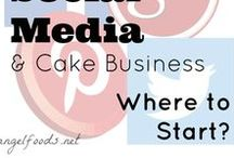 Social Media for Cake Business / The world needs to know you make great cake! A great way to share is through social media platforms like Pinterest, Facebook, Instagram and YouTube.  Here is where to start with social media & cake business - http://angelfoods.net/social-media-and-cake-business-where-to-start/