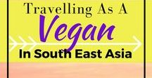 Eating Vegetarian & Travelling / Travelling as a vegetarian can be tricky. This collection of pins should help with destinations, restaurant reviews and tips on eating veggie on the road.