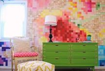 Fabulous Feature Walls / There is pretty much nothing I like more in home decor then a really fabulous feature wall.  Paint, wood, something more creative?  Wall treatments make a room come alive. / by Makely