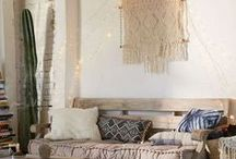 boho rooms & Decor Ideas / Ideas and inspiration for bohemian chic spaces