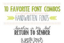 """I Like Good Fonts and I Cannot Lie / I'm not a graphic designer or """"font snob,"""" but I do like to use cool looking fonts.  Here are some that are worth checking out. / by Makely"""