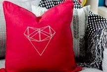 Pillow Fight! / Aren't throw pillows such a necessary evil?  I mean, I *have* to have them on my sofas and beds because they are pretty.  But, that pretty always ends up on the floor.  These pillows make the struggle worth it. / by Makely