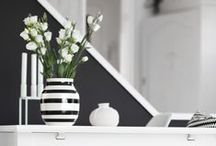 Monochrome Home / Classic black and white decor with a pop of colour is a modern day twist on the monochrome look / by Tesco