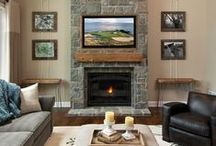 Elevated Fireplaces / Examples of elevated fireplaces without hearths that take up room space.
