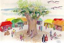 2007 - XVIII FNA - Brasil/África / Criação de cenografia para o evento e o espaço de exposições e stands por Murilo Pagani