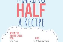 Kitchen Cheat Sheet / Measuring, Tips, Tricks / by Stephanie DiOrio