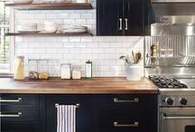Kitchen Inspiration / Kitchen ideas and designs that inspire the pieces found in Tori Murphy's kitchen accessories collection. Featuring vintage pantries and contemporary floor patterns that encourage Tori's creativity and passion for kitchen fabrics.