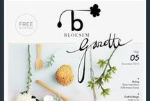 Beautiful graphic design / Selection of pretty designs from graphic designers and around the web. Fonts, logos, print documents, wordpress blog themes.
