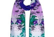 Silk with a smile / Hand illustrated silk scarves by NIKI P London