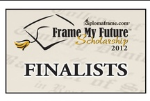 Finalists - 2012 Frame My Future Scholarship / The Frame My Future Scholarship Contest is an annual scholarship that we run. It allows students to submit an original and creative entry piece that shares how they frame their future.  We select 24 Finalists, and then ask the public to vote on their favorite entry to determine our winners. Five students win a $1,000 scholarship, and the top-voted entry receives a matching donation to their school. Vote for your favorite 2012 Finalist April 4 - May 5, 2012! www.framemyfuture.com