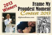 Winners - Frame My Proudest Moment Contest / Church Hill Classics is proud to announce the 5 Winners in the Frame My Proudest Moment Contest. The 5 Winners were chosen by the public during a three-week online voting period. View the 5 Winners online at www.diplomaframe.com/ProudMoments / by Church Hill Classics / diplomaframe.com