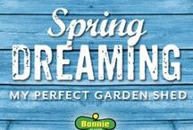 Spring Dreaming: My Perfect Garden Shed / This garden shed board is collaboration from gardeners around the country. Beautiful shed inspiration from gardeners like you! We hosted a contest & gave away a garden shed as the prize. The lucky gardener was Carol L. from Minnesota. We hope to add photos of her dream shed when she installs it in her garden!  / by Bonnie Plants