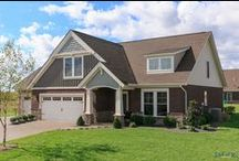 Little Rock C2 - The Reserve at Deer Valley / Jagoe Homes, Inc. Project: The Reserve at Deer Valley, Little Rock Home. Location: Utica, Kentucky. Elevation: C2 with 3rd Bay, Site Number: TRDV 85.