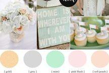 Colour Palettes / Wedding colour palette ideas