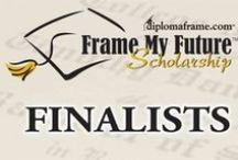 Finalists - 2016 Frame My Future Scholarship Contest / 2016 marks our 8th annual Frame My Future Scholarship Contest by Church Hill Classics. Students share how they want to 'frame their future' with a creative and original entry piece. There is a total of 24 Finalists competing to win one of the five $1,000 scholarships during a one-month public voting round. Vote for your favorite 2016 Finalist April 5 – April 28, 2016! www.framemyfuture.com / by Church Hill Classics / diplomaframe.com