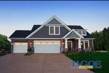 Little Rock Craftsman, C2 Elevation - Floor Plan / Jagoe Homes, Inc. Project: Centerra Ridge. Floor Plan: Little Rock Craftsman. Elevation: C2, Evansville, IN. Lot 174.
