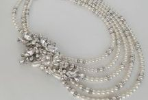Luxury Necklaces by Cheryl King Couture for Kleinfeld Bridal / Some of the stunning couture necklaces handcrafted in the USA by Cheryl King Couture that are available at Kleinfeld Bridal