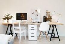 Espacio de trabajo / Despachos bonitos, espacio de trabajo, mesa de trabajo, rincón de trabajo