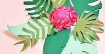 gabarit fleurs feuillage ♥♡♥