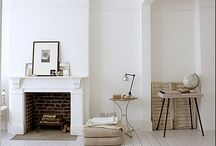 interiors / interior decor - mainly white & minimal, scandi influences & rustic touches