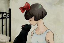 cat love / by Linda Pelsoh