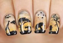 Animal and Character Nails / Animal, character, cartoon and animal print nails