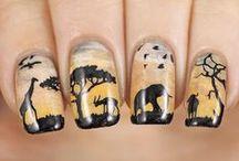 Animal and Character Nails / Animal, character, cartoon and animal print nails