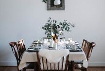 on the table / On the table  - table settings, place settings, table styling and feasts.
