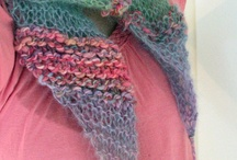 knit scarves and shawls