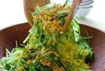Super Salads / Crisp & Cool Greens, Creamy Potato or Pasta, Fresh Fruit or Jello variety....Lets make a salad. / by Camile Mick