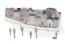 House and Building Illustration / by Ariana Pérez