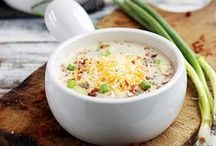 Savoury Soups / Hearty, creamy goodness in a bowl.  / by Camile Mick