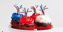 Patriotic Sweets & Treats / Come together and celebrate red, white and blue this summer with these desserts and crafts that show off your team spirit!