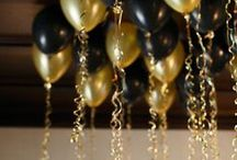 New Years / New Years Eve party ideas from decor to favors to food.  Great things for both kids and adults.