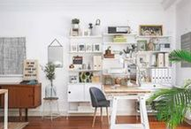 at the office / whether at home or not, creating a serene and comfortable office space matters.