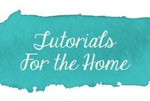 Tutorials - For the Home / Collection of sewing tutorials for the home