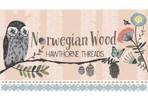 Norwegian Wood / Fabric by the yard with sewing and decorating inspiration. DIY. Owl. Sewing. Woods. Butterflies. Bees. Scandinavian inspired decor
