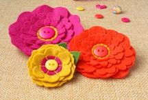 made by lolly - #ILoveColour Collection / This is the latest collection of felt flower brooches from made by lolly - made especially for colour lovers! In this collection you'll find rainbow brights mixed with gorgeous liberty fabric.