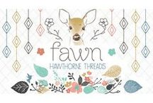 Fawn / Fabric by the yard with sewing and decorating inspiration. DIY. Deer. Sewing. Nature. Stag. Watercolor. Nursery decor
