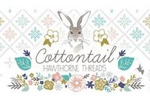Cottontail / Fabric by the yard with sewing and decorating inspiration. DIY. Easter. Sewing. Rabbit. Bunny. Hare decor